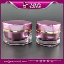 luxury updown cosmetic jar , high quality acrylic jar and cosmetic acrylic luxury jar