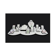 Горячая Продажа ПУ МДФ Белый ювелирных изделий Дисплей Платформа оптом (РВ-ТП)