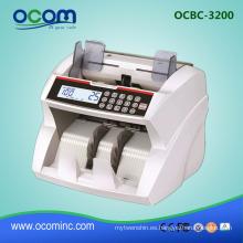 máquina de contador de billetes de dinero en efectivo de billetes de moneda de alta calidad