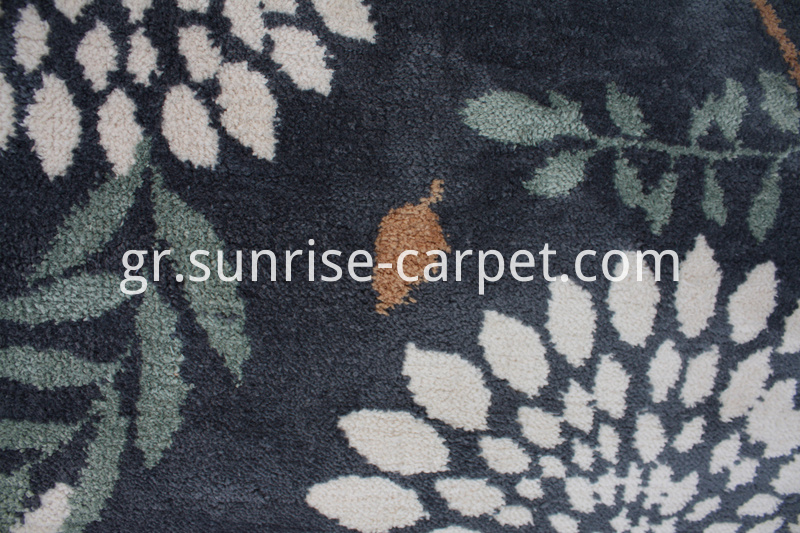 Microfiber Rug with Flower Design