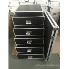 Étui 2017 Keli Made Drawer Flight Case et tiroir en aluminium Flight Case / Factory Direct / Custom Case
