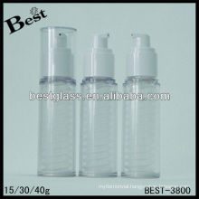 15/30/40ml,twist airless pump bottle, pp/as/san cosmetic bottle