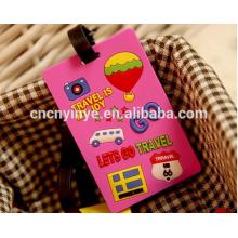 Etiqueta de bagagem personalizadas 3D de borracha macia do pvc / borracha bag tag / tag da bagagem do pvc