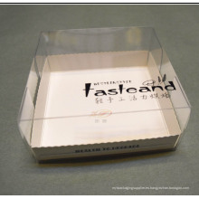 Caja de embalaje de alimentos saludables para el pan / pastel (PP caja impresa)