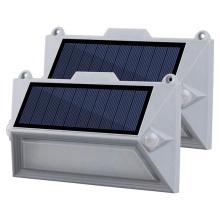 PIR rechargeable à double capteur a mené une applique murale solaire