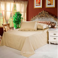 100% хлопок 400TC ,600TC светлого цвета роскошные ткани комплект постельных принадлежностей гостиницы
