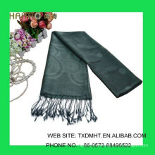 Bufandas Jaquard gris para señoras