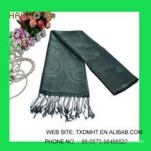 Grey Jaquard scarves for ladies