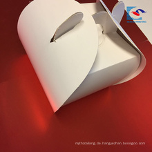 Kundengebundener Logo-kleiner netter rosa Kunst-Papier-Kuchen-Verpackenkasten