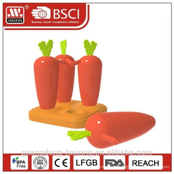 2014 New & Popular Carrot shape Ice Lolly Maker with Straw