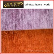 Tecido liso do Chenille para a embalagem do sofá nos rolos (EDM0223)