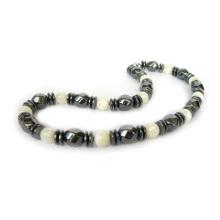 Collar de piedras preciosas de hematita Honey Onyx