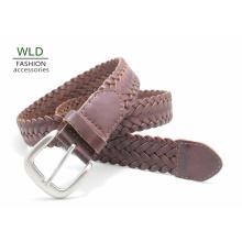 Мода основной плетеные подлинный топ кожаный пояс леди Lky1169