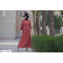 Rust red Round neck fashion Dress