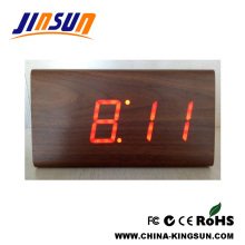 Wood Alarm Led Clock Office Table