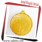 Factory Supply Gold Blank Zinc Alloy Sport Medal