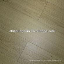 OAK blanco, pisos de tablones de vinilo de grano recto