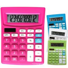 Calculadora de escritorio de doble potencia de 12 dígitos