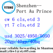 Economic Sea Freight from Shenzhen to Port Au Prince