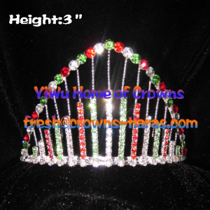 3inch Rainbow Crystal Pageant Crowns and Tiaras