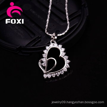 Heart Shape Simple Design Gold Pendant Charms