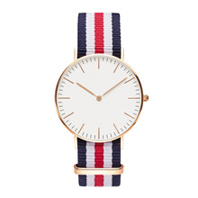 2016 Мужские женские часы Аутентичные бренды Luxury Glatt Кварцевые часы Nylon Rose Gold Серебряные часы Relojes Mujer Montre Femme Horloge