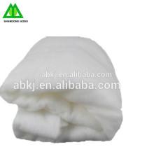 china manufactue guata de algodón de poliéster / guata de algodón de seda llena de ropa y almohada