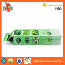 FDA aprobó la impresión personalizada chino gusset tetera vacío bolsa de embalaje de té