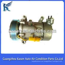 6pk sanden sd6v12 peugeot 206/307 compresor de aire acondicionado