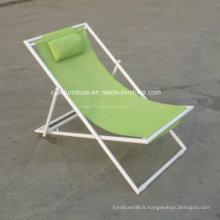 Chaise longue de banc de meubles de rotin Chaise longue sans table d'appoint