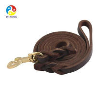 High quality pet strapping dog pet strap pet harness dog leash   Genuine leather top quality pets dog leather leash