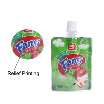 Flytande plastpåse Juice Packaging and Printing