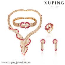 63319-Xuping Hotsale Special Style Design para conjunto de joyas de lujo