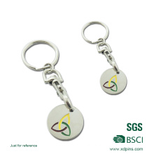Trolley Coin Keychain with Stamped Logo for Shopping Cart