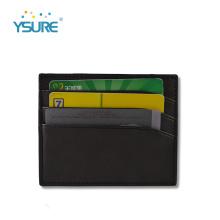 Portatarjetas de cuero con logotipo personalizado