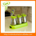 glass stainless steel pp spice rack(RMB)