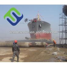 1.5m*16m barge tug launching high air-press ship airbag