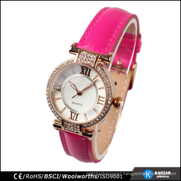 trendy stainless back cover wrist watch ladies fashion
