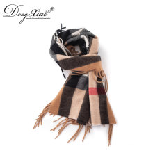Best Selling Promotional Price Unisex Fashion Merino Wool Checked Scarf