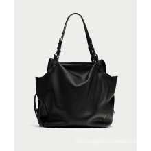 Black Leather Mini City Bag