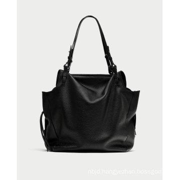 Black Leather Mini City Bag