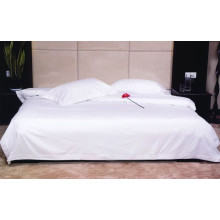 Hotel's Solid White 300-Thread-Count 4pc King Bed Sheets