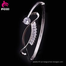 De Boa Qualidade Moda branco CZ bracelete de pulseira de ouro novo