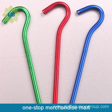 Colorful Metal Tent Pegs