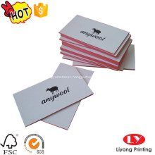 Hot business card printing with finishing