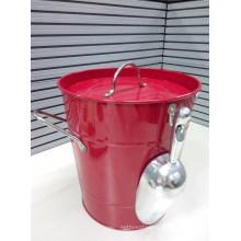 Metal Ice Bucket with Lid & Scoop