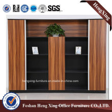 Aluminum Glass Doors Office Bookcase Modern Melamine Office Furniture (HX-6M282)