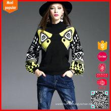 Las mujeres forman el puente atractivo los suéteres al por mayor de la cachemira China