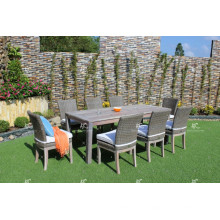 Poly Rattan Wicker 8 Armless Chairs Dining Set
