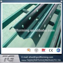 Hot Dip Galvanisierter Highway Guardrail Walzenformmaschine mit SPS Steuerung
